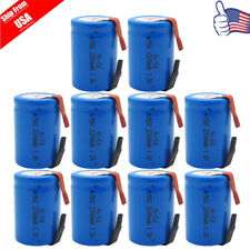10x NiCd 4/5 SubC Sub C 1.2V 2200mAh Rechargeable Battery With Tab Blue USA