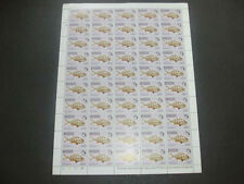 Barbuda 1968 Fishes 25c MNH Complete Full Sheet Cyl 1B-1B #S13