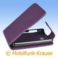 Flip Case Etui Handytasche Tasche Hülle f. LG E430 Optimus L3 II (Violett)