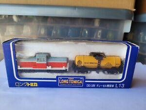 TOMICA LONG TOMICA L13 - DD13 Type Diesel Locomotive & Tanker Set VHTF BOX GOOD