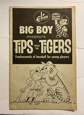 Vintage 1960's Elias Bros Tips From The Tigers Detroit Tigers