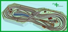 Piko H0 A-Gleis Gleisplan A32 für Anlagenplanung, HO, Set 3,7 x 1,55 m