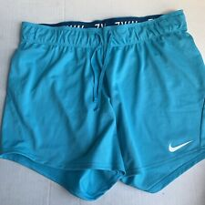 """Nike Dry Dri-Fit 5"""" Fold Over Workout Shorts Size Small 885273-447 Blue New"""