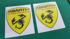 Fiat 500 / 595 / 695 Abarth competizione wing Decals / Stickers 100mm tall