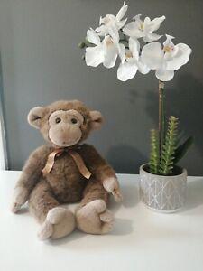 "Vintage RUSS JIMBY Cute Baby Monkey Soft Plush Toy Cuddling 14"""