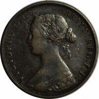 1861 NOVA SCOTIA LARGE CENT LARGE ROSEBUD VARIETY-HIGH GRADE CIRC!-d1059uqdc