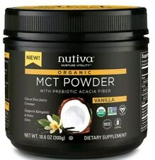 NUTIVA VANILLA MCT POWDER 10.6 OZ. 300G