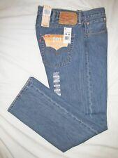 :>  LEVI'S 501  * NEW *  Mens Straight Leg Blue Jeans ~ Sz 36/38 x 32 ~ NWT