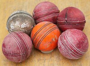 6 Used Senior (156g) 4 Red, 1 Orange and 1 White Cricket Balls