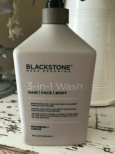 Blackstone Mens 3-in-1 Wash, Hair, Face, Body Sandalwood 35 oz