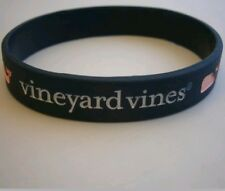Vineyard Vine Navy Blue Stetch Rubber Unisex Bracelet with Pink Whale Icon NWOT
