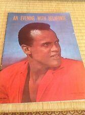 An Evening With Belafonte Concert Program  Playbill 1950's Harry Belafonte RCA