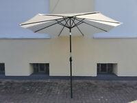 Gartenfreude Sonnenschirm 300x300x250cm creme Marktschirm Schirm 4900-1005-100