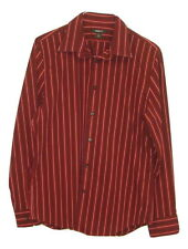 Express 1MX Fitted ModernFit Stretch Mens Maroon Long Sleeve Button Down Shirt L