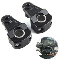 2PC Universal Motorcycle HandleBar Handle Fat Bar Mount Clamps Riser 7/8'' 22mm