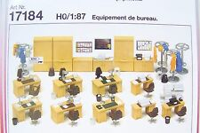 HO Preiser 17184 OFFICE EQUIPMENT : 1/87 MODEL INTERIOR  DETAIL KIT