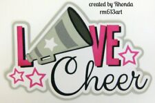 LOVE CHEER title paper piecing Premade Scrapbook Pages album card by Rhonda