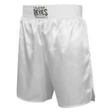 Cleto Reyes Satin Boxing Trunks, White, Large