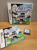 Alice in Wonderland Nintendo DS 2DS 3DS Disney Tim Burton VGC (Fast & Free Post)