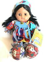 Gi Go Toys Vintage Native American Doll Soft Plush Dolls Tribal Collectible