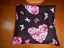 Hearts -Pink Ribbon on Black Pattern - Bowling Ball Cup/Holder Handmade