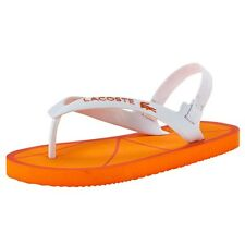 Lacoste Orange Nosara Flipflops BNWT UK4 EU20 US5 Infant Baby Boys Girls RRP £18