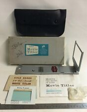 Vintage Bell & Howell 8mm Movie Titler with 624 lens
