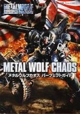 Metal Wolf Chaos Perfect Guide Book XBOX Japan