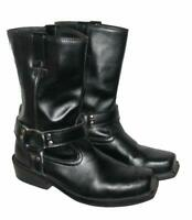 STARK: Herren- Motorradstiefel / Biker- Boots in schwarz ca. Gr. 42,5