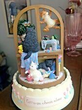 "San Francisco Music box ""Cats make a house a home"" rotates plays ""Close to you"""