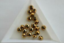 Coated Gold Rondelle beads. 4.5x6mm. 60 beads. #5152
