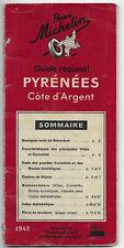 Guide Michelin 1942 Pyrénées Cote d'Argent