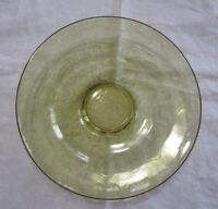 """FEDERAL GLASS CO  MADRID DEPRESSION 11"""" LOW CONSOLE SERVING BOWL AMBER"""