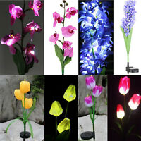 New Solar Power Flower Garden Stake Lamp Outdoor Patio Yard LED Landscape Light