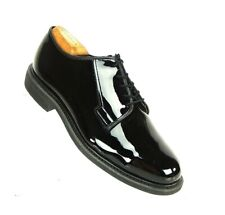 BATES High Gloss Patent Leather Uniform Dress Oxford Shoes Military Menes 10 EEE