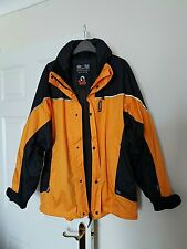 """WOLF GANG"" AIRTEX Casual Outdoor Walking Coat Size L/Unisex/Black&Yellow/New"