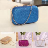 Women Glitter Chain Handbag Coin Purse Clutch Box Evening Party Hand Bag0 Wallet