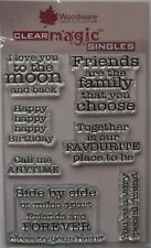 Woodware Clear Magic Friendships Verses Stamp Set FRS286