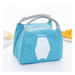 Childrens Kids Lunch Bag Insulated Cool Bag Portable Picnic Bag School Lunchbox
