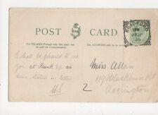 Miss Allan Blackburn Road Accrington 1906 420a