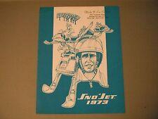 1973 Vintage Sno-Jet Snowmobile Brochure