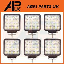 6 x 48W LED work Light Lamp 12V Flood Beam 24V Square Trailer Offroad 4X4 SUV