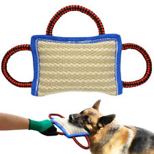 Jute Dog Bite Pillow Chew Training Tug Toys for Young Dogs Schutzhund Boxer K9