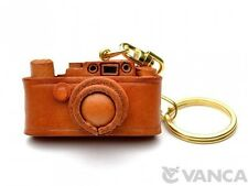 Leica Camera Handmade 3D Leather (L) Key chain ring *VANCA* Made in Japan #56801