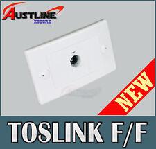 Optical Toslink 1Port Wall Plate Coupler Female /Female