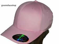 FLEXFIT PLAIN FITTED CAP HAT, PINK HIPHOP BASEBALL FLEXI FIT YUPONG