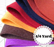 1/4 Yard 100% Virgin Merino Wool Felt - Cut to order