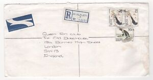 1996 SOUTH AFRICA Registered Air Mail Cover STALPLEIN to LONDON GB Birds Penguin