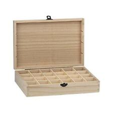Bare Wood Rectangular Box 27x18cm - 24 Compartments #8183