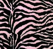 """ZEBRA PRINT POLY COTTON FABRIC 60"""" BY THE YARD 3 COLOR SAFARI PARTY DECORATION"""